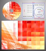 Abstract design template for dvd label and box-cover - stock photo