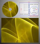 Abstract design template for dvd label and box-cover. - stock photo