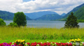 Mountains lake landscape. 4k or 4k+ Resolution