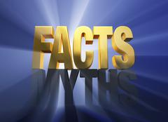 Stock Illustration of facts vanquish myths