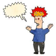 Stock Illustration of retro cartoon exploding head man