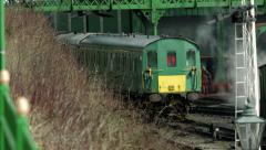 Diesel Loco moving into siding - stock footage