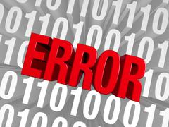 Stock Illustration of an error emerges from the data