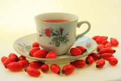 Wild rose tea Stock Photos