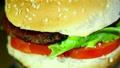 Tasty hamburger  rotate close up Footage