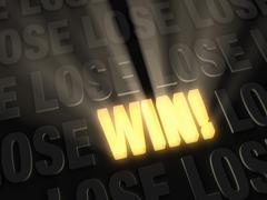 Win! Stock Illustration
