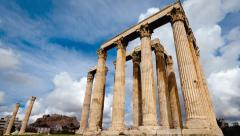 4K Olympeion Timelapse Temple of Olympian Zeus Athens 25p - stock footage