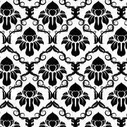Floral Pattern Background - stock illustration