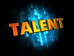 Talent Concept on Digital Background. - stock illustration