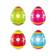 Easter Eggs - stock illustration