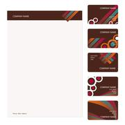 Stock Illustration of Business Cards Template