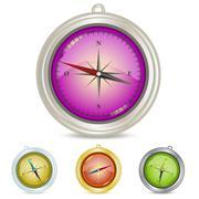 Compass Illustrations - stock illustration