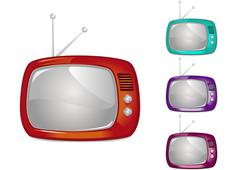 Retro Television (Global Swatches Included) - stock illustration