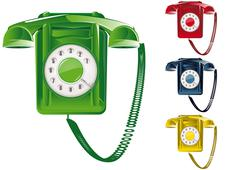Retro Telephone Illustration - stock illustration