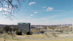 View of Capitol Mall from Tennessee State Capitol Building 2.7K Stock Footage