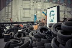 kiev (kyiv), ukraine - march 9, 2014: ukrainian revolution, euromaidan. portr - stock photo