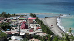 St Lucia Soufriere poor fishing village beach HD 1588 Stock Footage