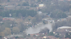 Riverside flooding, Surrey, England Stock Footage
