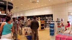 Stock Video Footage of People inside duty free store