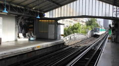 Paris metro train approaching Stock Footage