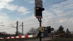 Rail Crossing 3 Stock Footage