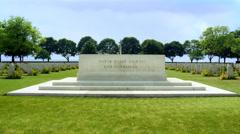 Brette-sur-Laize Canadian War Cemetery (1) - Cintheaux France Stock Footage