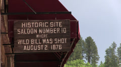 Historic site of Saloon Number 10 in Deadwood Stock Footage