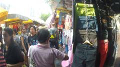 People walk down the market street.Bangkok. Stock Footage