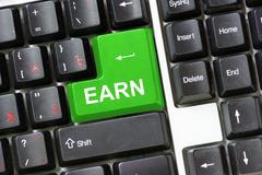 earn - stock photo