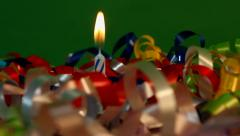 Last Candle Blown Out Party Over  Stock Footage