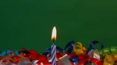 Festive Candle Burning Scene Stock Footage