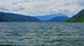 Mountains lake landscape. Footage