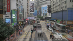 Hong Kong - Busy Street Scene - stock footage