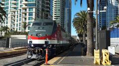Amtrak Genesis #42 at San Diego Union Station - stock footage