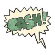 Stock Illustration of retro cartoon comic book shout for cash