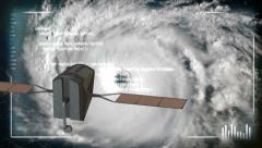 Hurricane Satellite Analyze 4131 Stock Footage