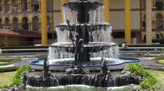 Water Fountain, Spring Water, Sculpture Stock Footage