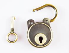 key and lock - stock photo