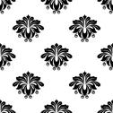 Stock Illustration of floral damask style arabesque motifs