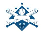 Stock Illustration of championship or league baseball emblem