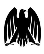 Impressive imperial eagle silhouette Stock Illustration