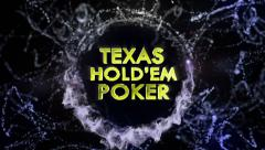 TEXAS POKER HOLD'EM Text in Particles Stock Footage