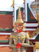 Thai demon in grand palace , bangkok thailand Stock Photos