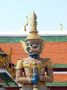 thai demon in grand palace , bangkok thailand - stock photo