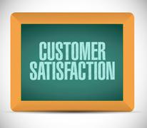 Stock Illustration of customer satisfaction chalkboard message