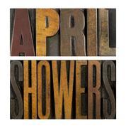 April showers Stock Photos