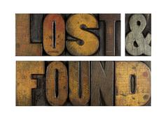 Lost and found Stock Photos