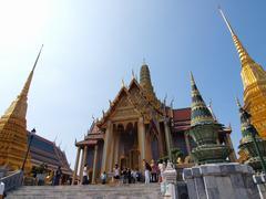 bangkok thailand - december 29:tourist and visitors admiring the beautifully  - stock photo