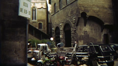 Vintage Mopeds and Autos Italy 16mm - stock footage