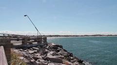 Beach pier Stock Footage